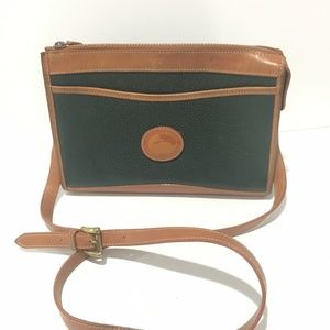 Dooney & Bourke Green Pebbled Leather Crossbody